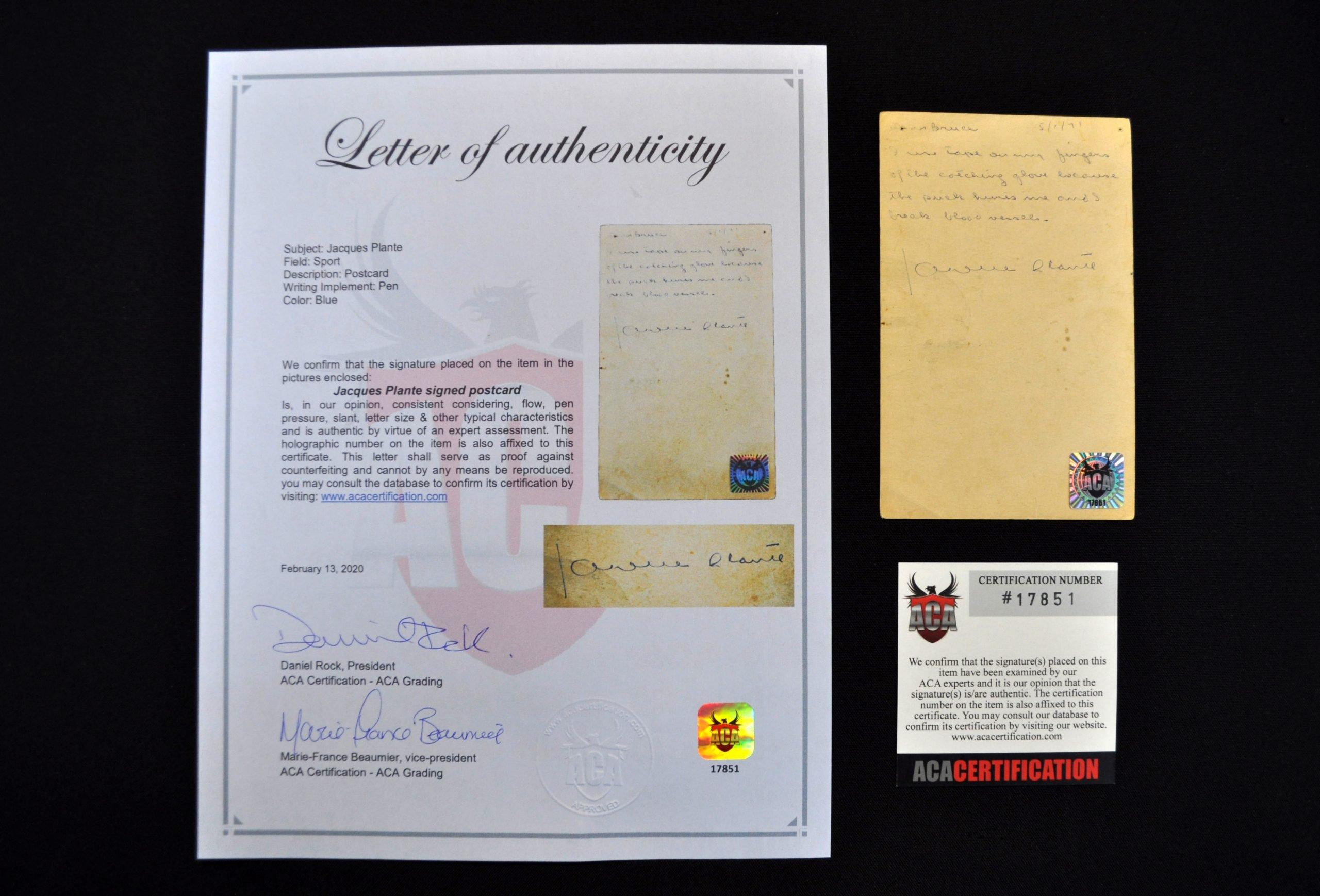 authentification aca certification signatures